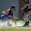 Natalie Wannamaker slides into home