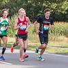 De kopgroep bij het 14km punt met links de uiteindelijke winnaar Alessandro Claut (1:08:08)