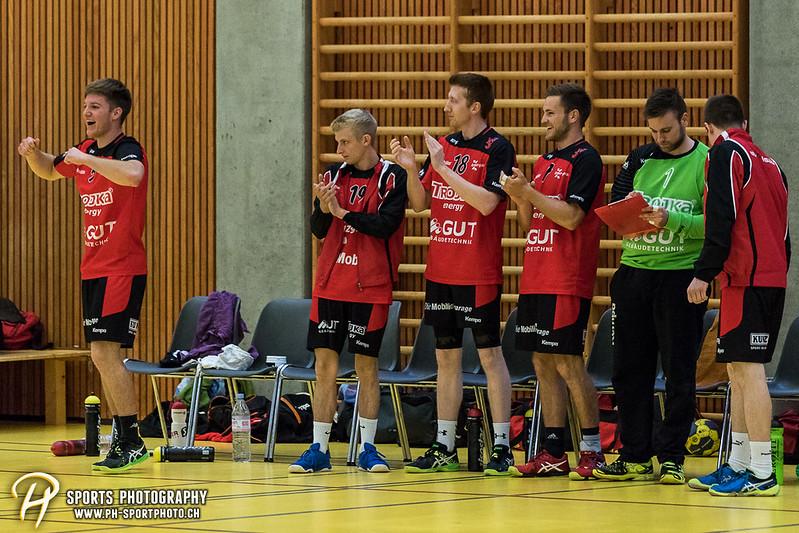 2. Liga: HSG Baar/Zug Superbulls - STV Willisau - 24:25 - Bild-ID: 201709170362