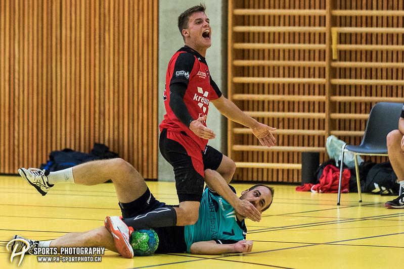 2. Liga: HSG Baar/Zug Superbulls - STV Willisau - 24:25 - Bild-ID: 201709170432