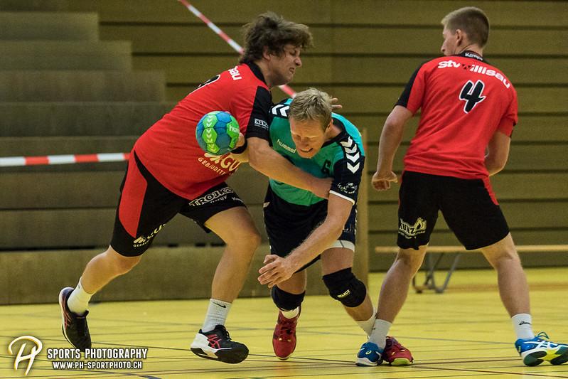 2. Liga: HSG Baar/Zug Superbulls - STV Willisau - 24:25 - Bild-ID: 201709170295