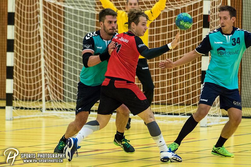 2. Liga: HSG Baar/Zug Superbulls - STV Willisau - 24:25 - Bild-ID: 201709170422