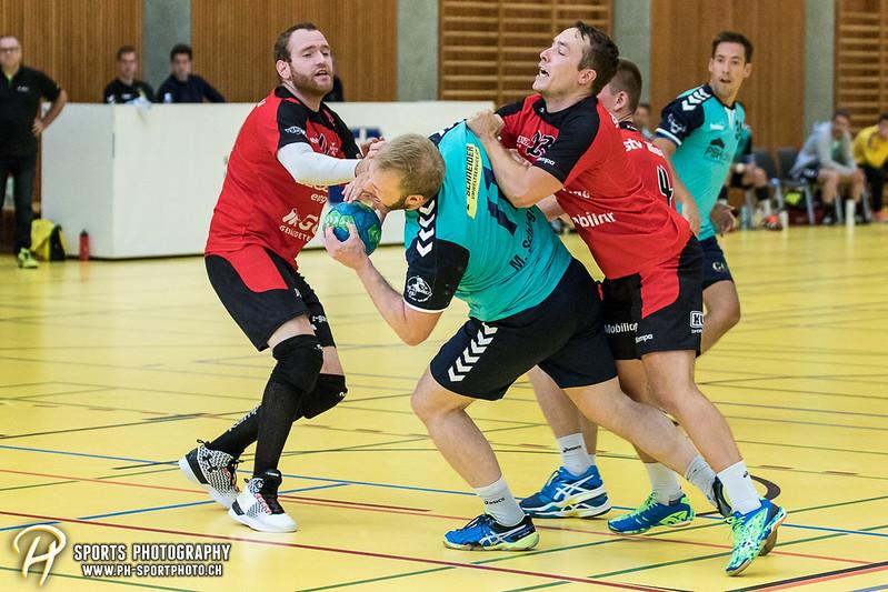 2. Liga: HSG Baar/Zug Superbulls - STV Willisau - 24:25 - Bild-ID: 201709170367