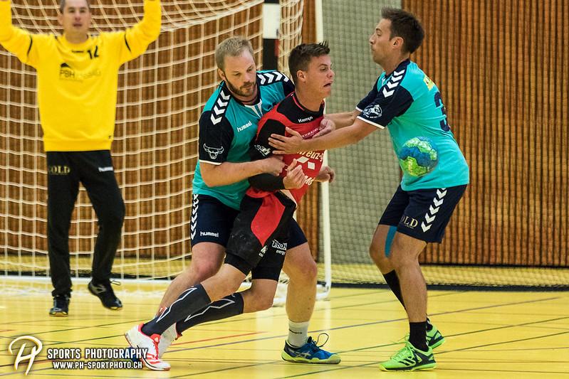 2. Liga: HSG Baar/Zug Superbulls - STV Willisau - 24:25 - Bild-ID: 201709170390