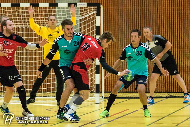 2. Liga: HSG Baar/Zug Superbulls - STV Willisau - 24:25 - Bild-ID: 201709170375