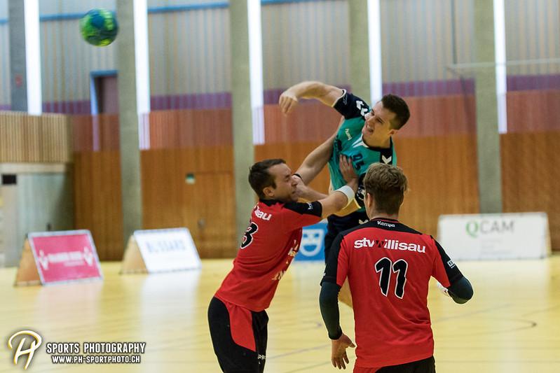 2. Liga: HSG Baar/Zug Superbulls - STV Willisau - 24:25 - Bild-ID: 201709170346