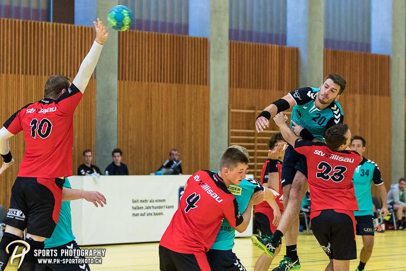 2. Liga: HSG Baar/Zug Superbulls - STV Willisau - 24:25 - Bild-ID: 201709170364