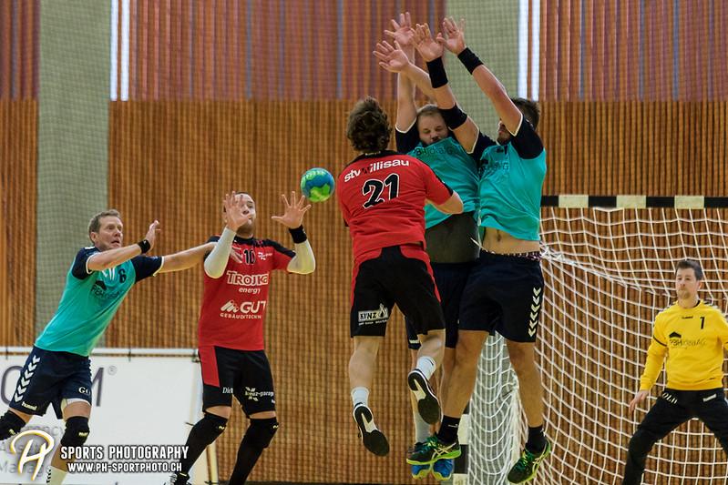 2. Liga: HSG Baar/Zug Superbulls - STV Willisau - 24:25 - Bild-ID: 201709170299