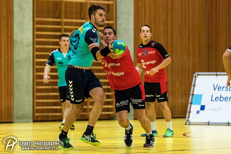 2. Liga: HSG Baar/Zug Superbulls - STV Willisau - 24:25 - Bild-ID: 201709170257