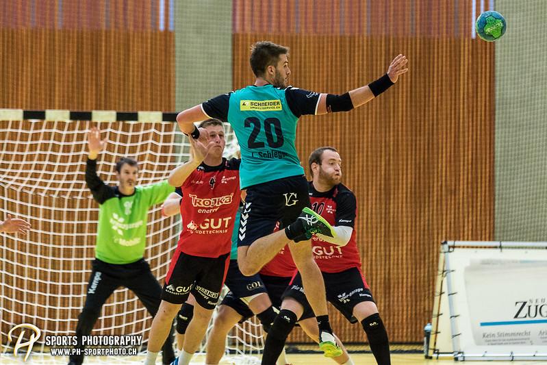 2. Liga: HSG Baar/Zug Superbulls - STV Willisau - 24:25 - Bild-ID: 201709170404