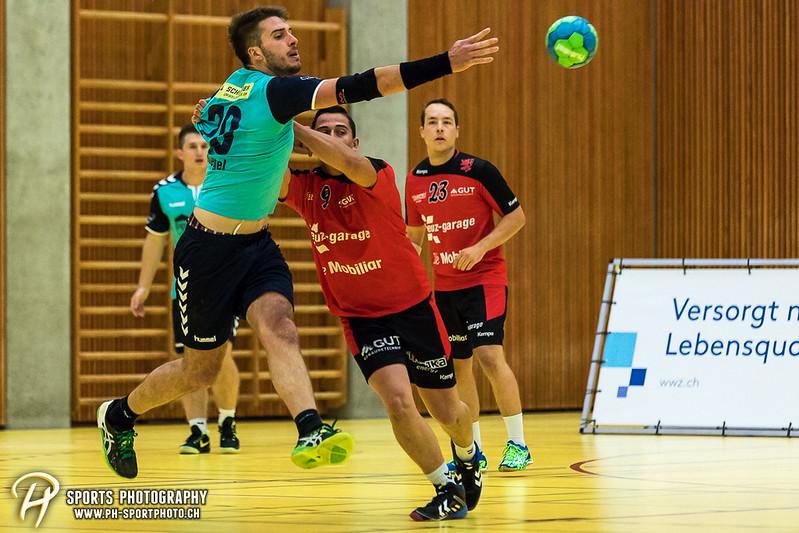 2. Liga: HSG Baar/Zug Superbulls - STV Willisau - 24:25 - Bild-ID: 201709170258