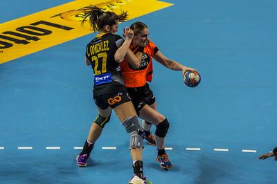 09-03-2016: Handbal: Nederland v Spanje: Almere    Fotograaf Andy Astfalck