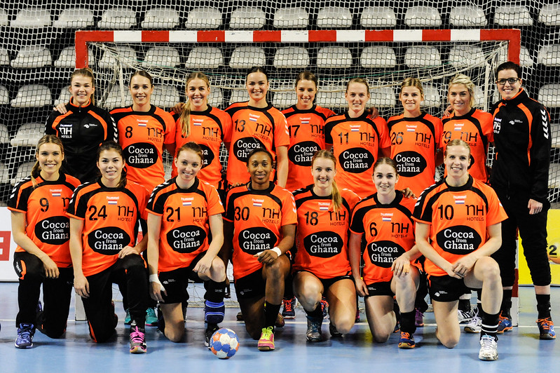 2016 Women's European Handball Championship Qualification Phase 2 held at the Almere Topsportcentre, in the Netherlands