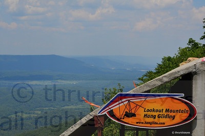 The view from the launch site at Lookout Mountain.