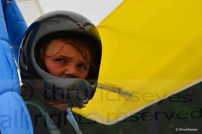 The youngest flyer at 12 years old waiting for the wind to work for his launch.