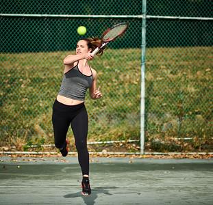 Oct. 26,  2019 - New York, NY   Hannah Berner / Julia Elbaba tennis Central Park  Photographer- Robert Altman Post-production- Robert Altman