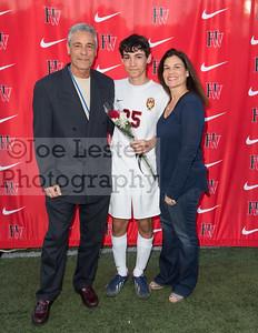 Harvard-Westlake High School Bots Varsity Soccer Senior Night 2-10-16