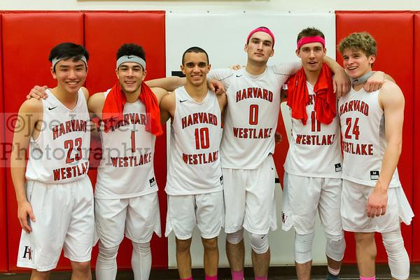 HW Boys Varsity Basketball Senior Night 2-10-17