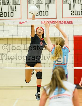 HW Girls JV Volleyball vs Marymount 9-22-16
