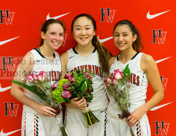 HW Girls Varsity Basketball Senior Night 2-9-17
