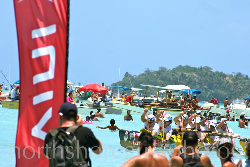 Team Hawaii Bora Bora Finish