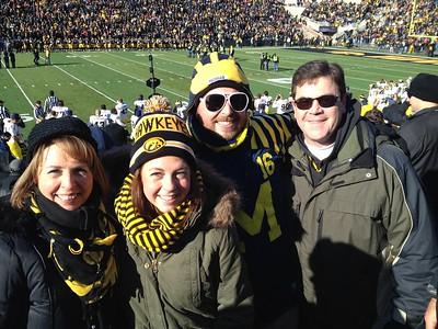 Michigan vs Iowa Nov 2013
