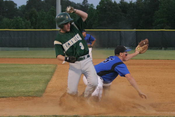 IMG_66689Atlee's Taylor Sandefur gets out Patrick Hughes at first to end the top of the fifth.