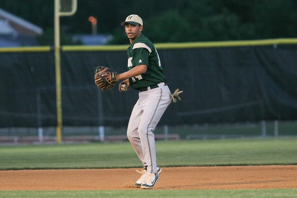 IMG_66727With two outs, Henrico shortstop Landon Prentiss fields a grounder by Atlee's Barrett Seay.