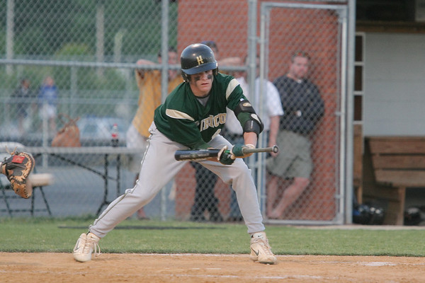 IMG_66650Henrico's Eric Thornton attempted a bunt in an effort to advance runner Landon Prentiss to third.