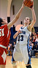 North Penn's Mikeala Giuliana ,13, has a shot blocked by Souderton defender Sarah Derstine ,31, during second half action of their contest at North Penn High School on Thursday January 15,2014. Photo by Mark C Psoras/The Reporter