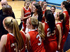 The Souderton Girls Basketball team rally together before the start of second half action of their contest against the Maidens at North Penn High School on Thursday January 15,2014. Photo by Mark C Psoras/The Reporter