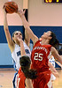 North Penn's Mikeala Giuliana ,13,  puts up a shot over soudertons Bianca Picard ,25,  during second half action of their contest at North Penn High School on Wednesday January 15,2014. Photo by Mark C Psoras