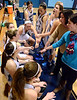 The North Penn Maidens Basketball team rally together before the start of their contest against Souderton at North Penn High School on Thursday January 15,2014. Photo by Mark C Psoras/The Reporter
