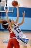 North Penn's Mikeala Giuliana ,13,  grabs a rebound over Souderton defender Sarah Derstine ,31, during first half action of their contest at North Penn High School on Thursday January 15,2014. Photo by Mark C Psoras/The Reporter