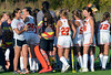 The Gwynedd Mercy Girls Varsity Field Hockey team rally together during a timeout of their contest against Nazareth Academy at Gwynedd Mercy Academy on Wednesday October 2,2013. Photo by Mark C Psoras/The Reporter