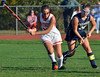 Gwynedd Mercy 's Nicole Catalino ,18, lines up a shot past Nazareth Academy defenders during second half action of their contest at Gwynedd Mercy Academy on Wednesday October 2,2013. Photo by Mark C Psoras/The Reporter