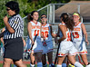 Gwynedd Mercy 's Nicole Catalino ,18, is congratulated by teammates after her penalty-shot goal against Nazareth Academy during second half action of their contest at Gwynedd Mercy Academy on Wednesday October 2,2013. Photo by Mark C Psoras/The Reporter