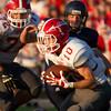 SAM HOUSEHOLDER   THE GOSHEN NEWS<br /> Goshen senior Brady Bechtel recovers a fumble against Fairfield Friday.