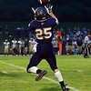 HALEY WARD | THE GOSHEN NEWS <br /> Fairfield running back Connor Kitson catches the ball during the game against Niles Friday at Fairfield Junior-Senior High School.