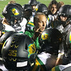 PHOTO CONTRIBUTED BY BILL BECK<br /> Northridge coach Tom Wogomon talks with players during Friday's game against Plymouth.