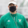 Wawasee Warriors head coach Jon Reutebuch observes his players Saturday before the game at Concord High School in Elkhart.