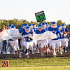 West Noble Chargers Jose Cervantes (12) leads his teammates out on the field before the game Friday at West Noble High School in Ligonier.