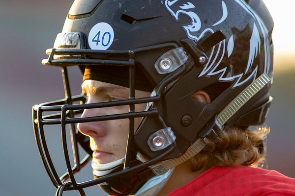 The NorthWood Panthers sport the number (40) on their helmets approved by the ISHAA in honor of NFL Hall of Fame and former Chicago Bears running back Gale Sayer running back Andrew Lockwood Friday to wear during the rest of the season.
