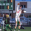 Goshen sophomore Noah Alford (10) deflects a pass as Wawasee attempts a two point conversion during the first quarter of NLC action in Syracuse Friday night.