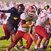 SAM HOUSEHOLDER | THE GOSHEN NEWS<br /> Goshen junior running back Dylan Back runs into the endzone for a touchdown during the sectional game against Fort Wayne Snider Friday.