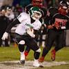 SAM HOUSEHOLDER | THE GOSHEN NEWS<br /> Concord senior Matt Fragle makes a cut while running with the ball against Fort Wayne Northside Friday.