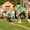 HALEY WARD | THE GOSHEN NEWS <br /> Concord kicker Josh Gorbal kicks a field goal as Jocco Iavagnilio holds the ball during the game against Saint Joseph Friday at Concord High School.