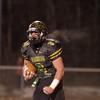 SAM HOUSEHOLDER | THE GOSHEN NEWS<br /> Northridge senior Cam Ridenour yells after scoring a touchdown Friday during the semistate game against New Prairie.