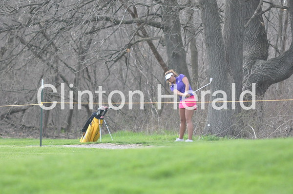 Central DeWitt at Clinton girls golf (April 26, 2013)