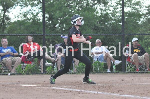 Clinton softball vs. Davenport North (06-18-15)